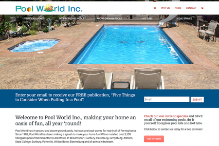 Poolworld Inc. Website